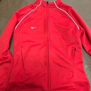 DRI fit Nike zip up hoodie (red)